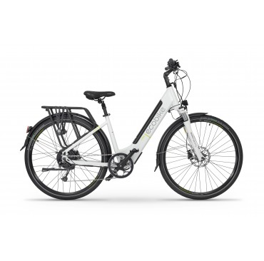 "Elektrinis dviratis EcoBike X-Cross White 17"""